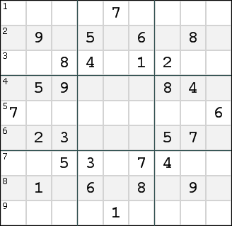 The Rows of the typical Sudoku puzzle