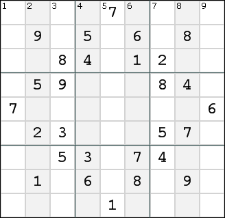 The Columns of the typical Sudoku puzzle